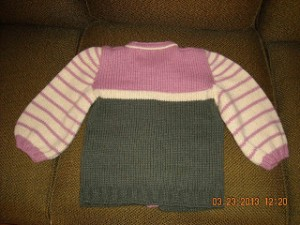 Pink-Cream-Green Child's sweater