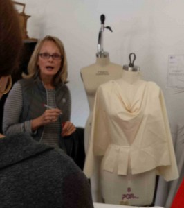 Cheryl discussing the draping process.